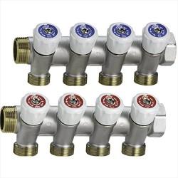 Collettore lineare con rubinetti