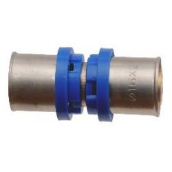 Raccordo dritto doppio a pressare per tubo multistrato