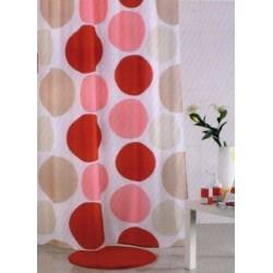 Tenda doccia in tessuto poliestere Multicolor