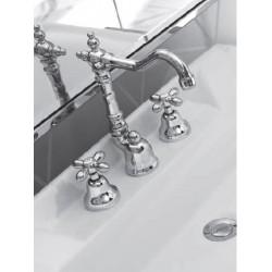 Batteria per lavabo a 3 fori Zipponi serie Monet bocca tipo antico