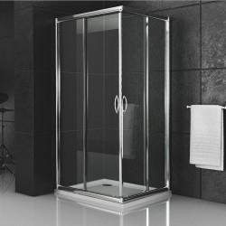 Box doccia cristallo 6 mm profilo in alluminio