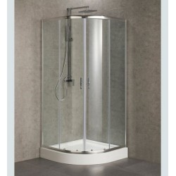 Box doccia semicircolare cristallo 6 mm profilo in alluminio