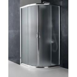 Box doccia semicircolare cristallo 8 mm satinato profilo in alluminio