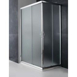 Box doccia cristallo 8 mm satinato profilo in alluminio