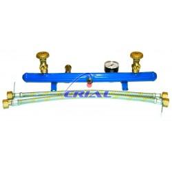 Centralina per abbinamento bombole gas GPL completa di valvola sicurezza e manometro