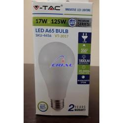 LAMPADINA LED E27 A65 17W BIANCO CALDO