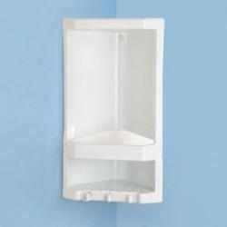 Portasapone angolare per doccia in resina termoplastica