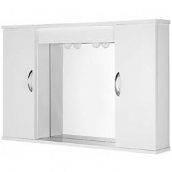Specchio con 2 ante bianco