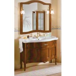 Mobile bagno color noce con specchiera serie Iris Inlay