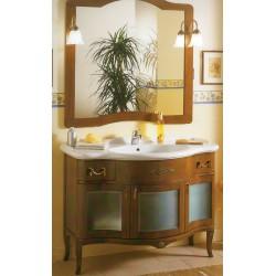 Mobile bagno color noce con specchiera serie Iris Glass