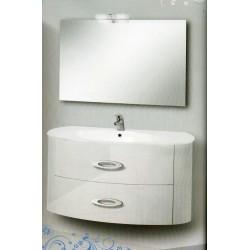 Mobile bianco 2 cassettoni con specchiera serie Marlene