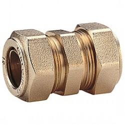 Raccordo dritto doppio con o-ring per tubo rame