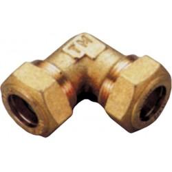 Raccordo curvo doppio con o-ring per tubo rame